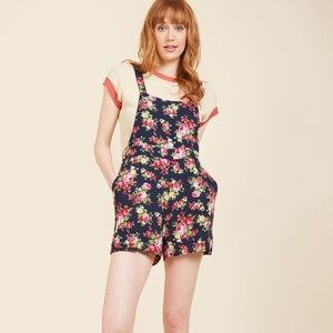 Navy Blossom Floral Romper - ModCloth